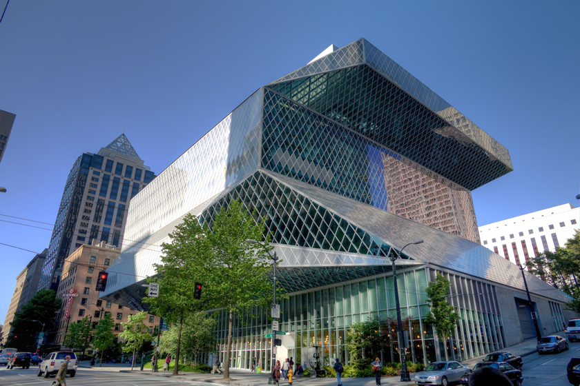 Rem Koolhaas designed Seattle Public Library
