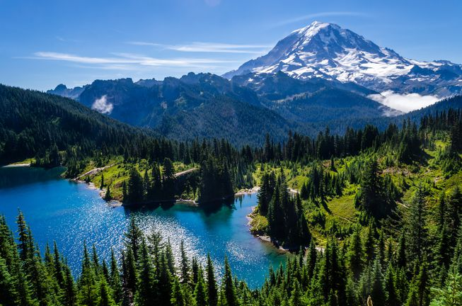 Mt. Rainier and the Cascade Mountains